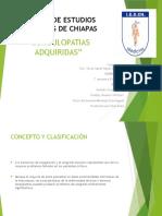 COAGULOPATIAS ADQUIRIDAS 1