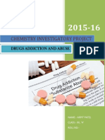 Chemistry Investigatory Project on Drugs Addiction & Abuse