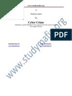 Cyber Crime Report