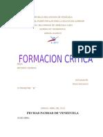 FORMACION CRITICA