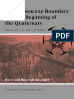 The Pleistocene Boundary and the Beginning of the Quaternary [John a. Van Couvering, 2001]