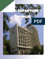 Pre Departure Manual 2015