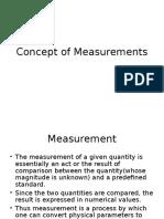 Concept of Measurements