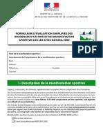 Formulaire Evaluat Natura 2000