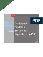 Catalogo de Proyectos Especificos Del PEC