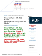 Chapter Wise IIT JEE Notes Mains_Advanced_Phy_Che_Maths