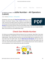 How to Check Own Mobile Number on Any Operator