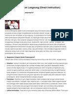 Model Pembelajaran Langsung (Direct Instruction) _ Education Laboratory