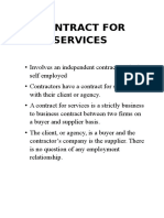 Contract for Services law240