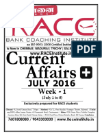 July Month First Week Current Affairs