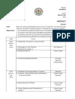 Supervisory Plan Sample