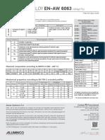 Aluminium Alloy en Aw 6063 Material Data Sheet Aluminco