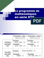 Le Programme de Maths en STG