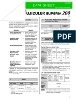 Fujicolour Superia 200 Data Sheet