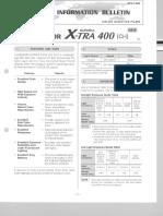 Fujicolour X-TRa 400 Colour Negative Films Data Sheel