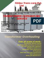 Shilpa Transcare Pvt Ltd - Transformer oil filtration, Transformer overhauling , Transformer testing