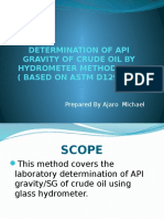 Determination of API Gravity of Crude Oil