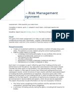BAFI3192 Risk Management Group Assignment 1.1(2)