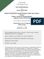 Fr. Winkler Kg v. Gene Stoller v. Helmut Winkler, Martha Winkler Fuhst, Kurt Maier, Walter Schnee, and Franz Remensberger. Appeal of Gene Stoller, 839 F.2d 1002, 3rd Cir. (1988)