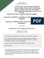 United States v. Garland R. Haddock, & Third Party v. Wayland J. Hardee, Pansy Sue Hardee, Third Party, 872 F.2d 420, 3rd Cir. (1989)