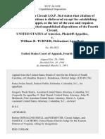 United States v. William R. Turner, 925 F.2d 1458, 4th Cir. (1991)