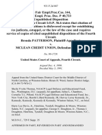 58 Fair empl.prac.cas. 144, 56 Empl. Prac. Dec. P 40,733 Brenda Patterson v. McLean Credit Union, 931 F.2d 887, 4th Cir. (1991)