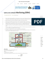 Notes on Electron Beam Machining (EBM)