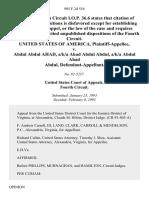 United States v. Abdul Abdul Ahad, A/K/A Ahad Abdul Abdul, A/K/A Abdul Ahad Abdul, 985 F.2d 554, 4th Cir. (1993)