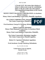 Money Point Diamond Corporation, T/a Jacobson Metal Company Money Point Land Holding Corporation v. The Union Corporation, the Union Corporation v. Fred Jacobson George B. Ginsburg, and Robert Copeland, Money Point Diamond Corporation, T/a Jacobson Metal Company Money Point Land Holding Corporation v. The Union Corporation, the Union Corporation v. Robert O. Copeland, and Fred Jacobson George Ginsburg, 998 F.2d 1009, 4th Cir. (1993)