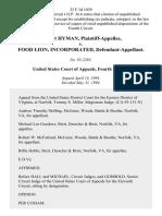 Gilbert Hyman v. Food Lion, Incorporated, 25 F.3d 1039, 4th Cir. (1994)