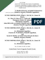 Albert Schwartz Phyllis Schwartz, on Behalf of Themselves and All Others Similarly Situated v. Ncnb Corporation Hugh L. McColl Jr. James H. Hance, Jr. Marc D. Oken H. L. Culbreath James W. Thompson Robert H. Spilman, John Heller, on Behalf of Himself and All Others Similarly Situated v. Ncnb Corporation Hugh L. McColl Jr. James H. Hance, Jr., Charles H. Warnken, and Sarah B. Shields, on Behalf of Herself and All Others Similarly Situated v. Ncnb Corporation Hugh L. McColl Jr. James H. Hance, Jr., 23 F.3d 403, 4th Cir. (1994)