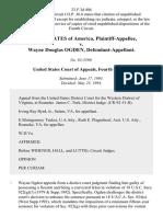 4nited States of America v. Wayne Douglas Ogden, 23 F.3d 404, 4th Cir. (1994)