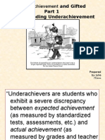 gifted underachievement research and presentation