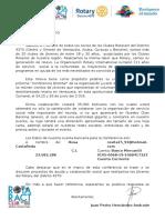 Carta Patrocinante Rotaract