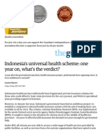 Indonesia's Universal Health Scheme_ One Year on, What's the Verdict_ _ Global Development Professionals Network _ the Guardian
