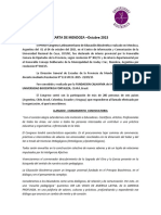 Carta de Mendoza