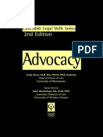 Andy Boon-Advocacy (Legal Skills Series) - 2nd Edition (1999)
