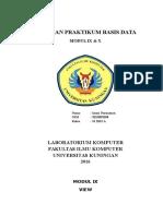 LP_SI2015A_SBD ImanNurzaman(201509058) Modul 9 & 10