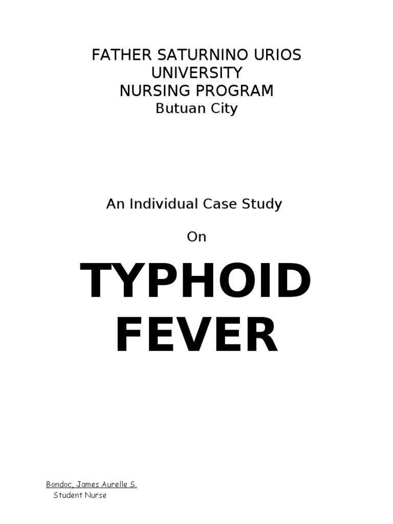 case study on typhoid fever | Stomach | Small Intestine
