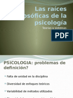 las raíces filosóficas de la psicología