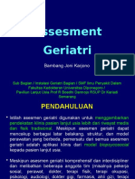 Geriatric Assesment (Kuliah Unswagati April 2015)