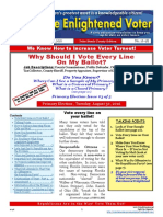 16-9E July 25 issue - The Enlightened Voter - Vote Every Line on Ballot, Primaries, Voter Education