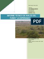 Informe Tecnico de Avaluo Fundo La Esperanza Febrero 2015