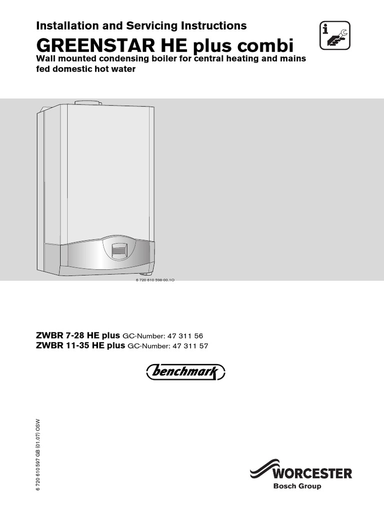 Greenstar HE Plus Combi Installation and Servicing Instructions ...