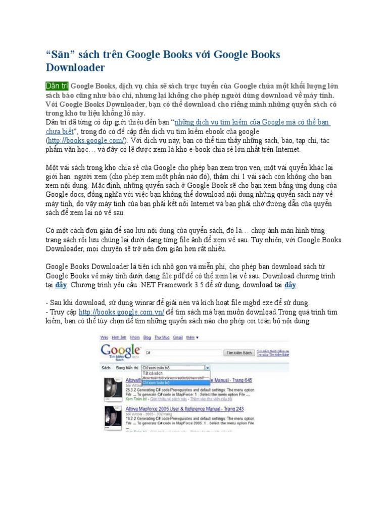 \u201cSăn\u201d Sách Trên Google Books Với Google Books Downloader