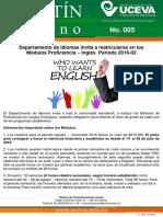 005-16 Boletín Interno%2c Módulos de Proficiencia Agosto.pdf