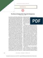 The Choice of Antipsychotic Drugs for Schizophrenia