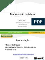 Manutenção de Micro - Aula 01
