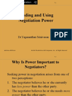 Power in Negotiation ChU