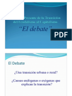El Debate de La Transición Del Feudalismo Al Capitalismo - Versión Resumida.
